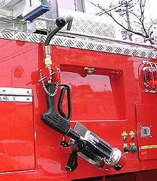 高圧噴霧装置ホース自動巻取り装置