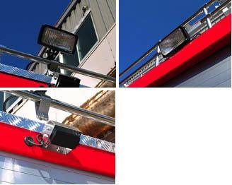 35W周辺作業灯、バックアイカメラ
