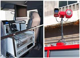 新たに採用された緊急車両画像伝送装置は緊急車両としては日本で初めてインマルサット静止衛星を使用しています。